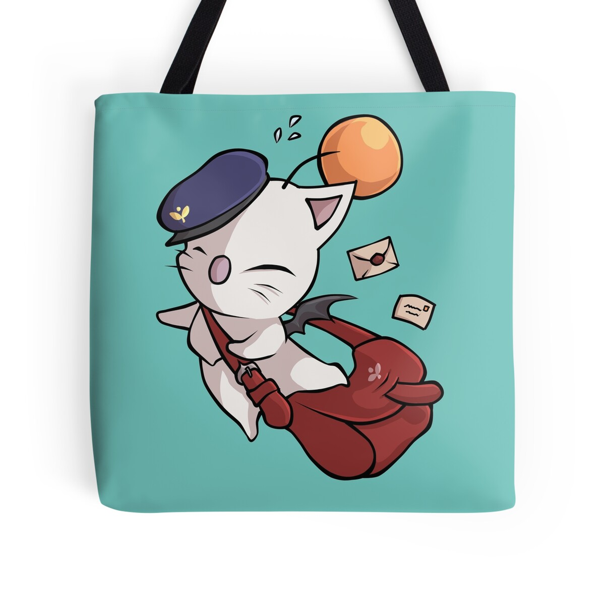 """Delivery Moogle Birthday Card Final Fantasy Themed: Final Fantasy"""" Tote Bags By Linai"""
