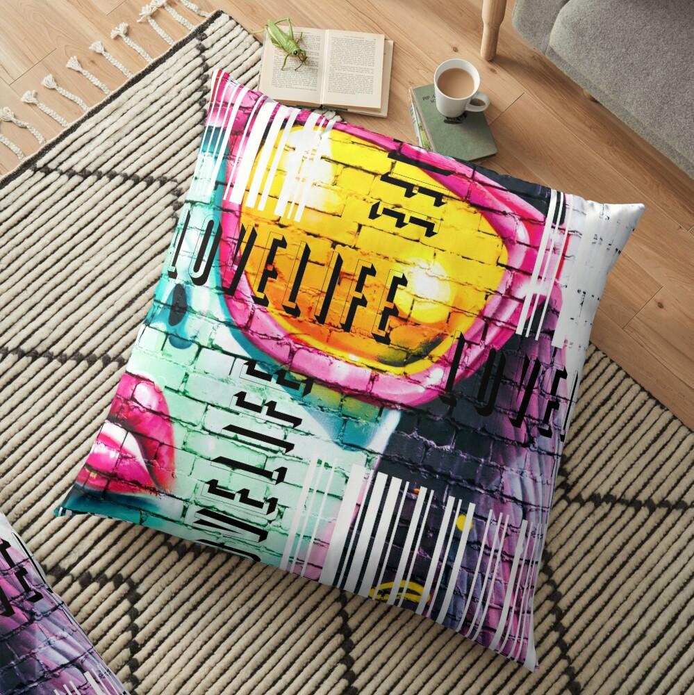 Life Code Floor Pillow