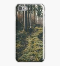 Boy walking through mystic forest landscape photography iPhone Case/Skin