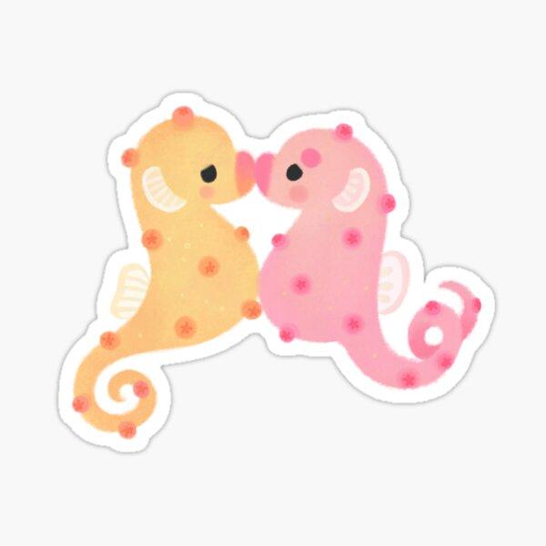 Pygmy seahorses -  dark Sticker