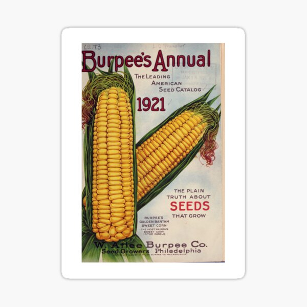 Vintage Burpee's Seed Annual Catalog Cover (1921) Sticker