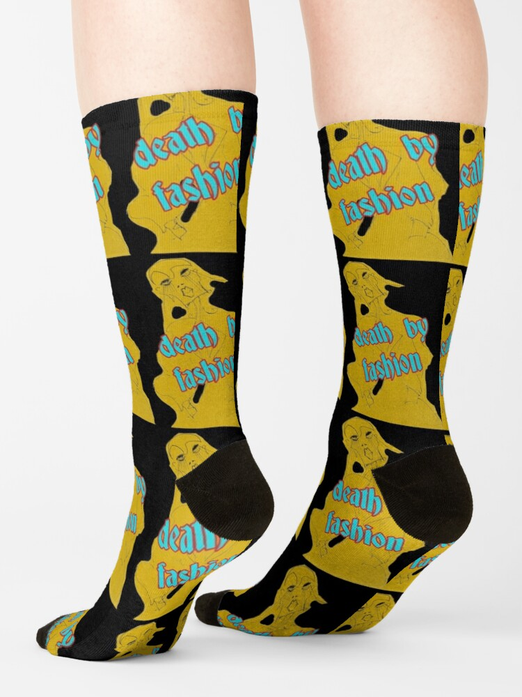 Alternate view of Death by Fashion Limited Edition Wearbale Art by Dominartist Socks