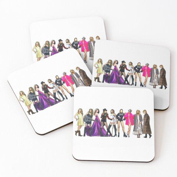 9 eras Coasters (Set of 4)