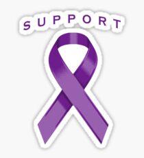 Purple Awareness Ribbon of Support Sticker
