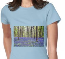 Knee Deep In Bluebells! Womens Fitted T-Shirt