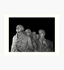 Mount Rushmore National Memorial Scale Model Art Print
