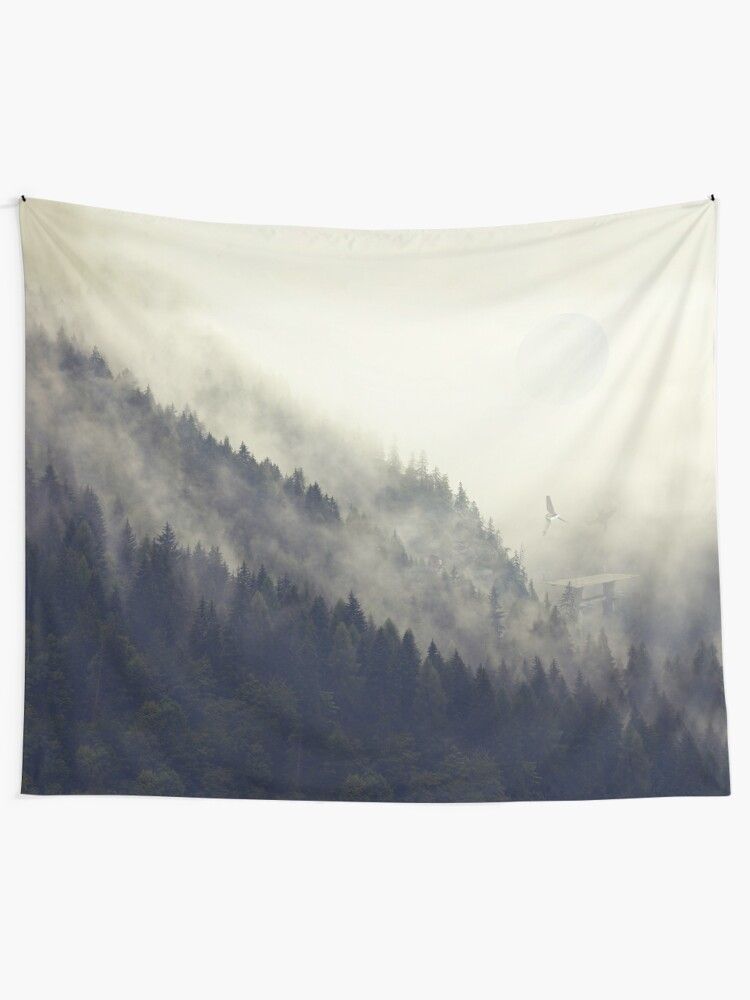 Alternate view of Forest Moon Tapestry