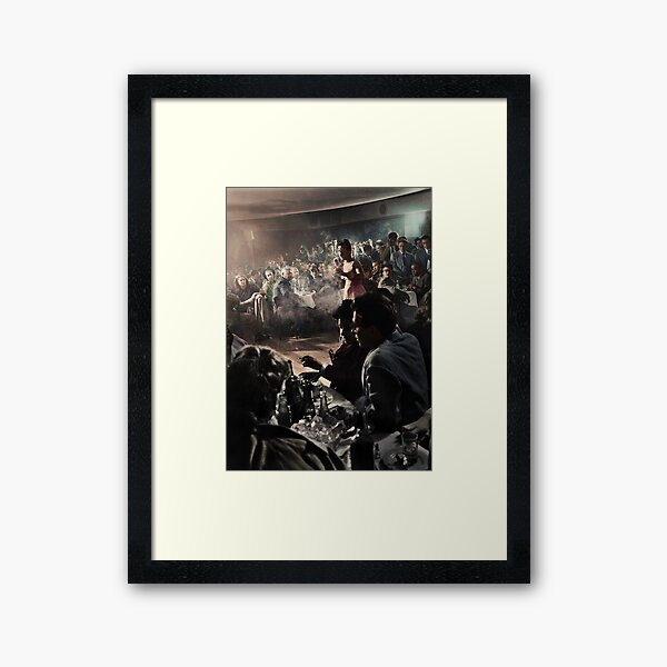 Billie Holiday at Cafe Society (1939) - Colorized Framed Art Print
