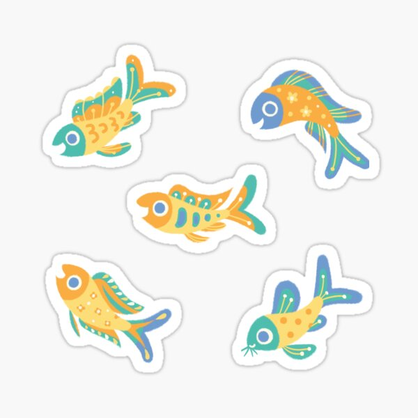 Pastel fish Sticker