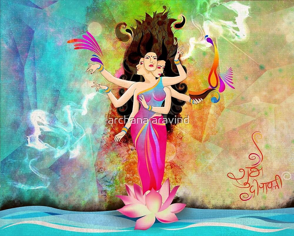 """Diwali-with-Goddess-Lakshmi"" by archys Design   Redbubble"