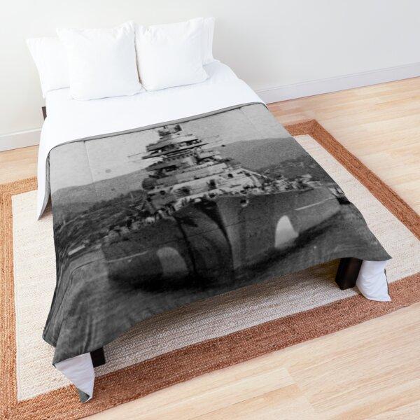 """Bismarck"" in fjords Comforter"
