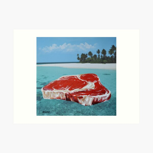 The Great Barrier Beef Art Print