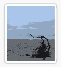 leven beach Sticker
