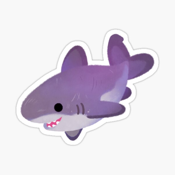 Little diamond / great white shark sticker Sticker