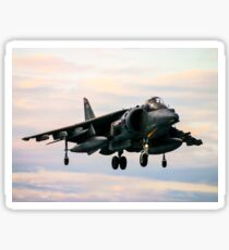 RAF Harrier landing Sticker