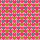 Pink, Gray & Green Hearts by Annie Webster