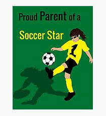 Soccer Girl (Parent) Photographic Print
