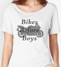 Bikes Before Boys Women's Relaxed Fit T-Shirt