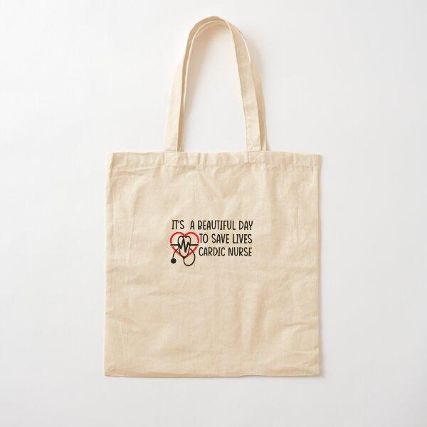 Es un hermoso día para salvar vidas cardic enfermera Bolsa de algodón
