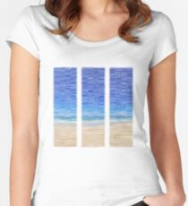Summertime Blues Women's Fitted Scoop T-Shirt