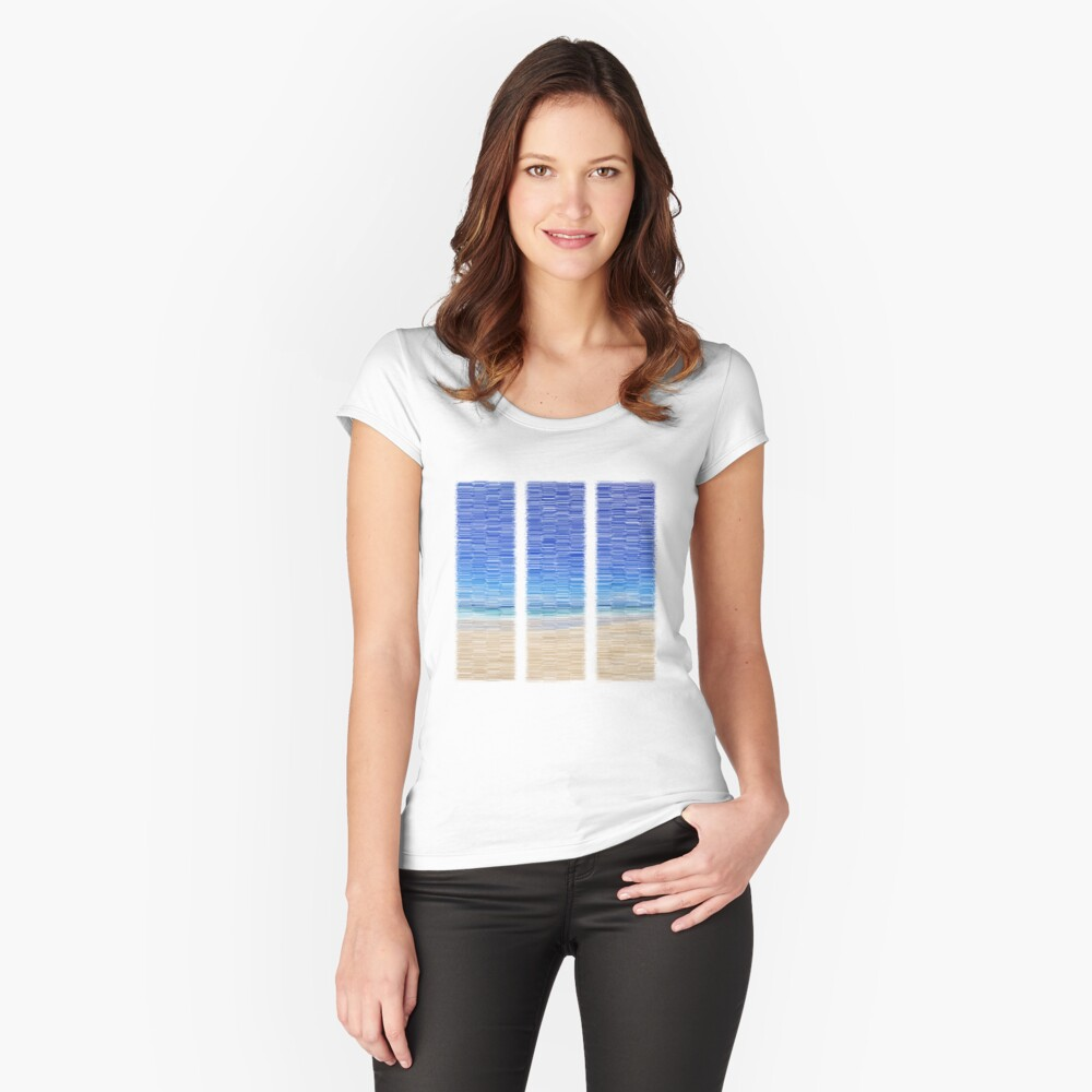 Summertime Blues Women's Fitted Scoop T-Shirt Front