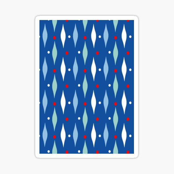 """Winter Festivals"" Modern Abstract Pattern Sticker"