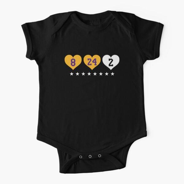 Kobe Bryant x Gianna Bryant 8 24 2 Amor Body de manga corta para bebé
