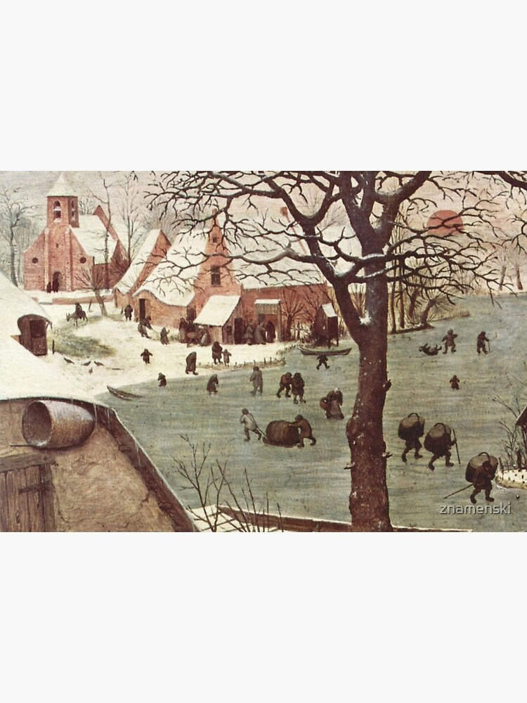 The census at Bethlehem. Fragment 3. View from the river. Pieter Bruegel The Elder, Painting, 1566, 115.5×163.5 cm by znamenski