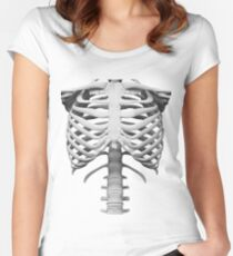 Anatomy white bones skeleton Women's Fitted Scoop T-Shirt