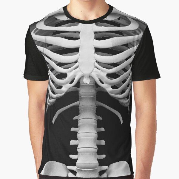 Anatomy white bones skeleton Graphic T-Shirt