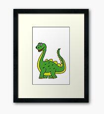Happy Dinosaur  Framed Print