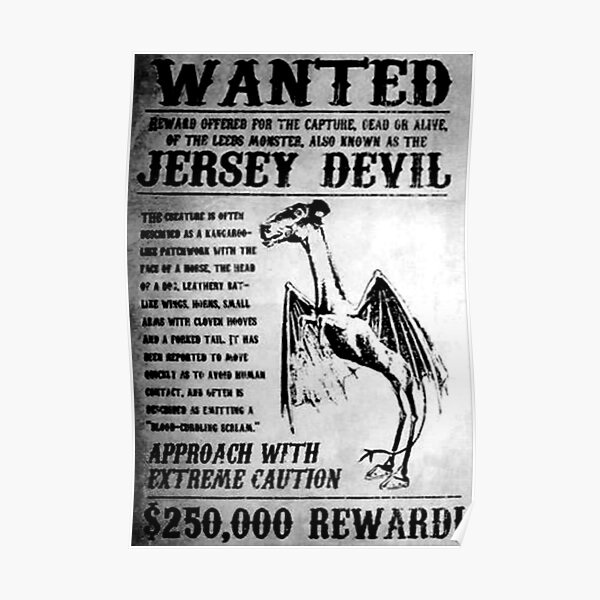 Jersey Devil   Wanted Poster Poster