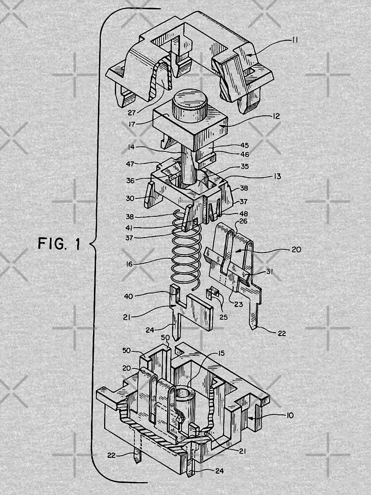 Mechanical Keyboard Key Patent by CupOSmut
