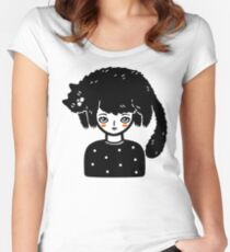 Cat Hair Women's Fitted Scoop T-Shirt