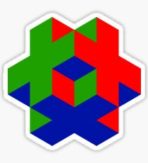 Isometric RGB Cruciform Cube Sticker