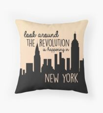 Revolution in NYC Throw Pillow