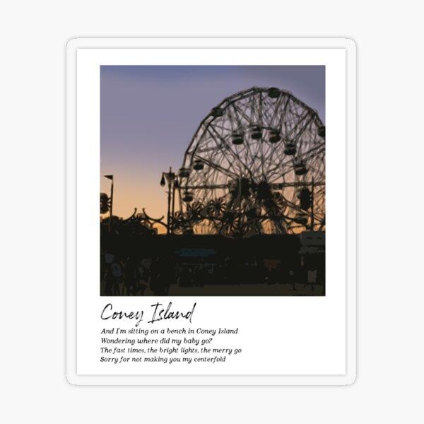 Coney Island - Taylor Swift Transparent Sticker