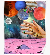 Psychedelic space. Poster