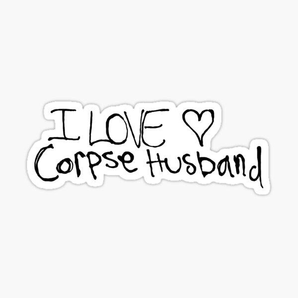 Ich liebe das Herz von Corpse Ehemann Sticker