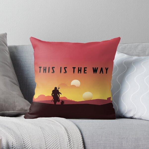 the mando sun set best time  Throw Pillow