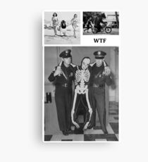 WTF - Threesome penguin bear and cops Canvas Print