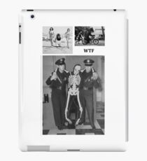 WTF - Threesome penguin bear and cops iPad Case/Skin