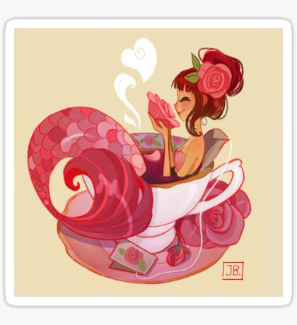 Tea Mermaid Sticker