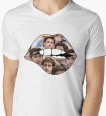 John Krasinski Lippen T-Shirt mit V-Ausschnitt