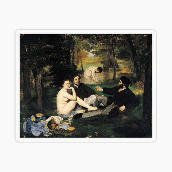 Edouard Manet Luncheon on the Grass Transparent Sticker