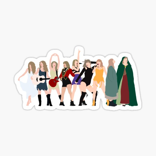 Taylor Swift eras incl evermore Sticker