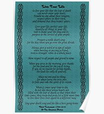 """Live Your Life""  by Chief Tecumseh Turquoise  Poster"