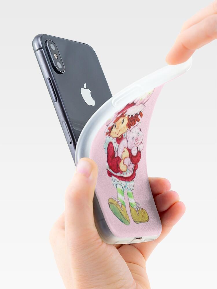 Vista alternativa de Funda y vinilo para iPhone Tarta de fresas y natillas