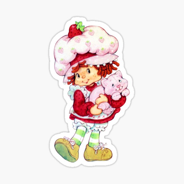 Strawberry Shortcake & Custard Sticker