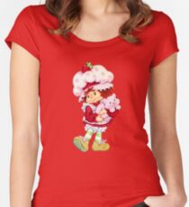 Strawberry Shortcake & Custard Women's Fitted Scoop T-Shirt